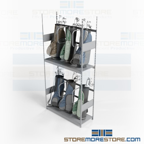 Golf Bag Organizer Racks For Multi-Tier Club Storage