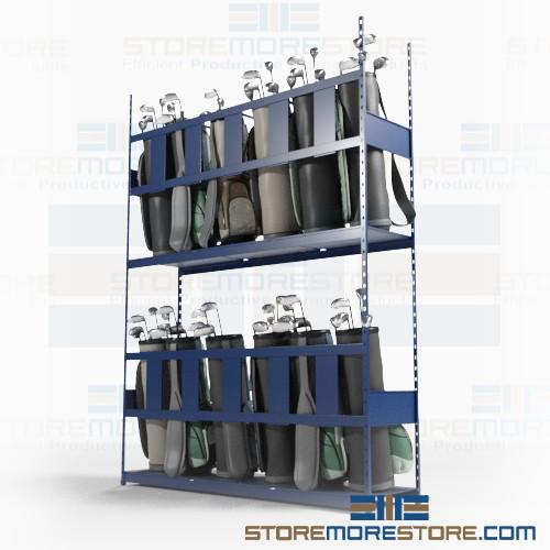 golf bag storage racks