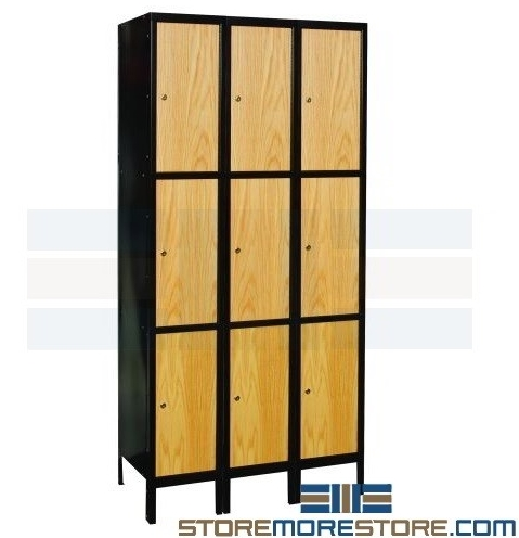 hybrid metal steel wood lockers