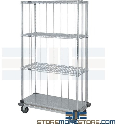 linen supply carts