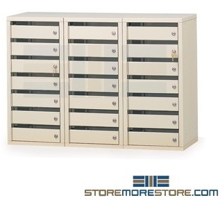 mailroom slotted sort stations