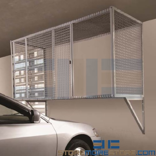 overhead car parking wire cage locker