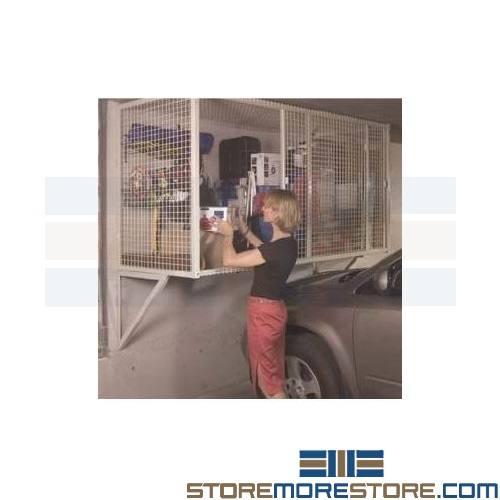 wire cage garage storage locker