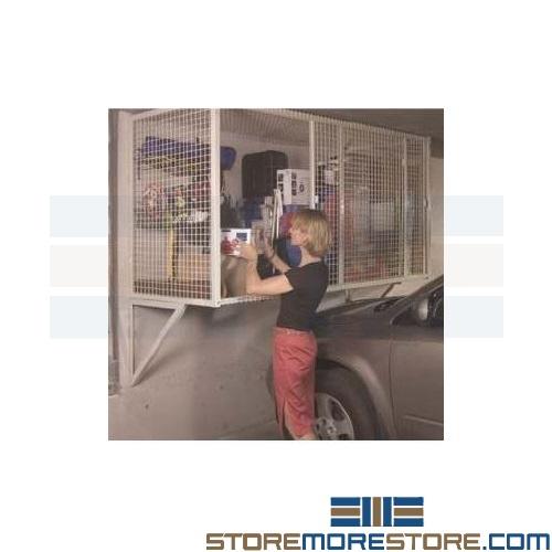 wire cage garage storage locker