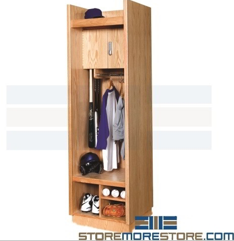 athletic wood lockers
