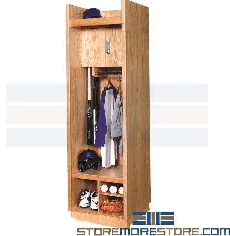athletic wood lockers
