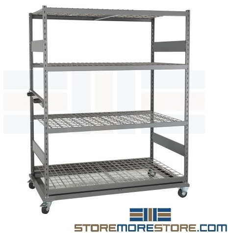 mobile industrial warehouse storage carts