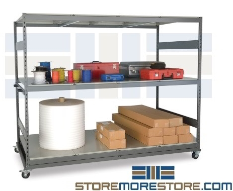 portable steel racks carts