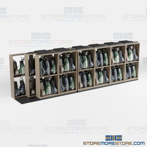 golf bag sliding shelving storage