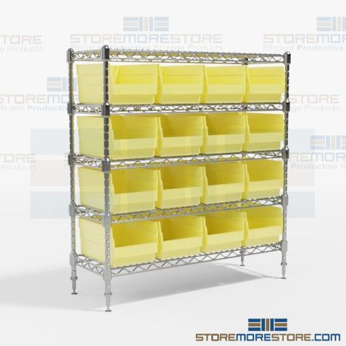 bin wire shelving racks