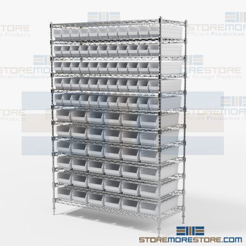 wire bin racks small parts storage