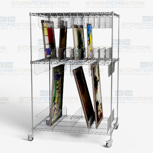 canvas painting transport storage carts
