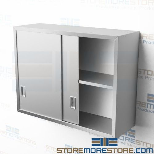 wall hung stainless steel cabinets