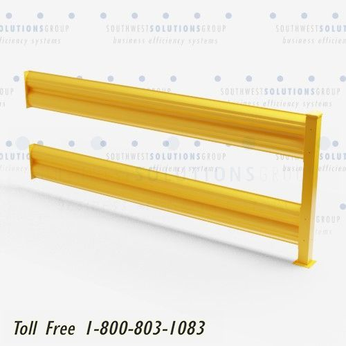 pedestrian safety yellow guardrails
