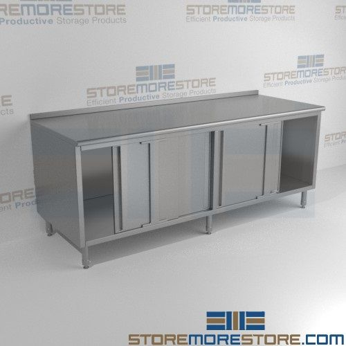 stainless steel counter cabinets