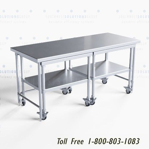 stainless steel nesting work tables