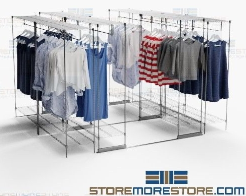 retail backroom hanging garment racks