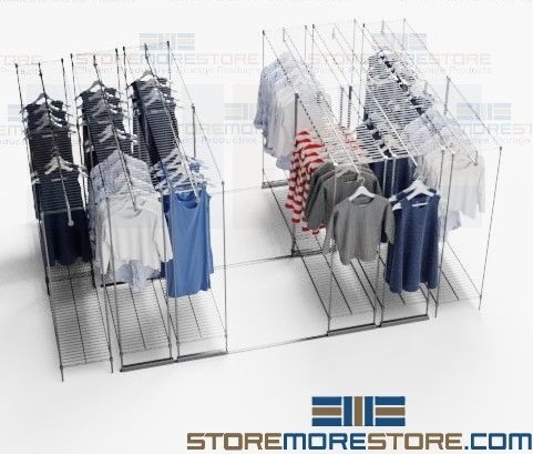 sliding mobile garment racks