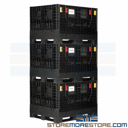 collapsible bulk storage boxes