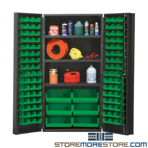 heavy-duty bin storage cabinet