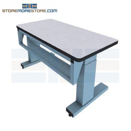 motorized height adjustable technical workbench