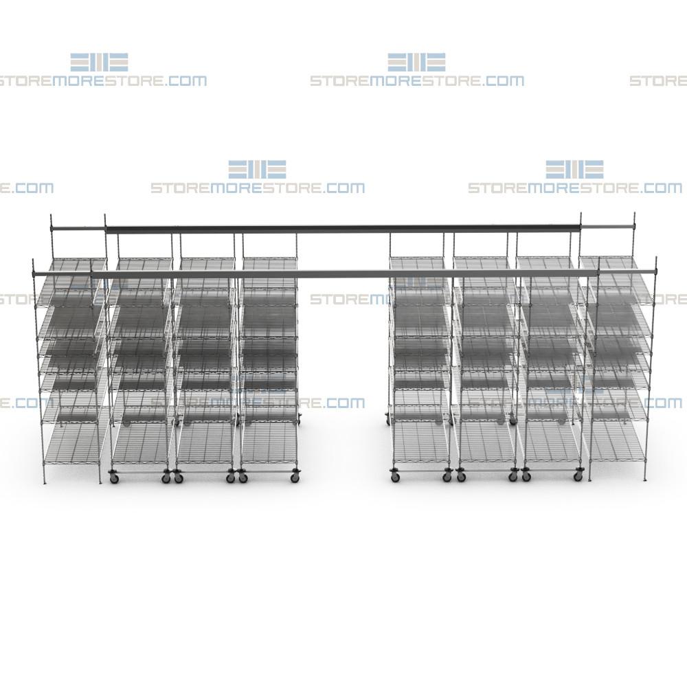 overhead wire sliding storage