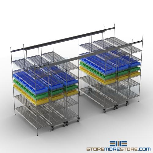 top track mobile shelving
