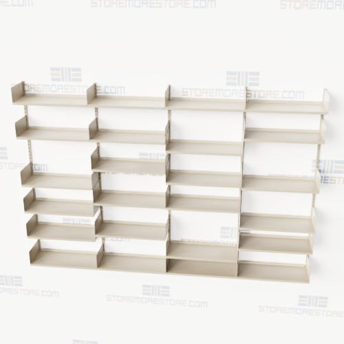 vertical adjusting wall mounted shelves