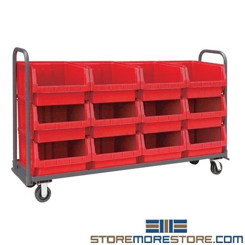 bin transport cart picking stations