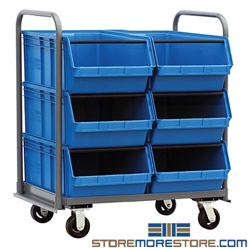 bulk stacking bin carts