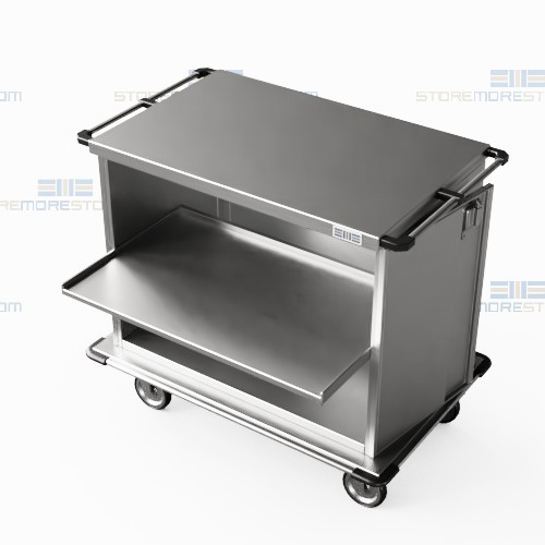 surgical instrument stainless steel closed case carts