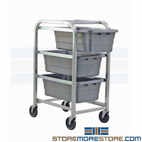 mobile bin tote carts