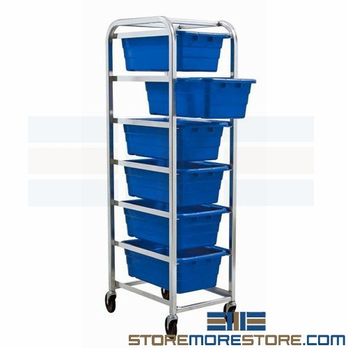 plastic tub supply carts