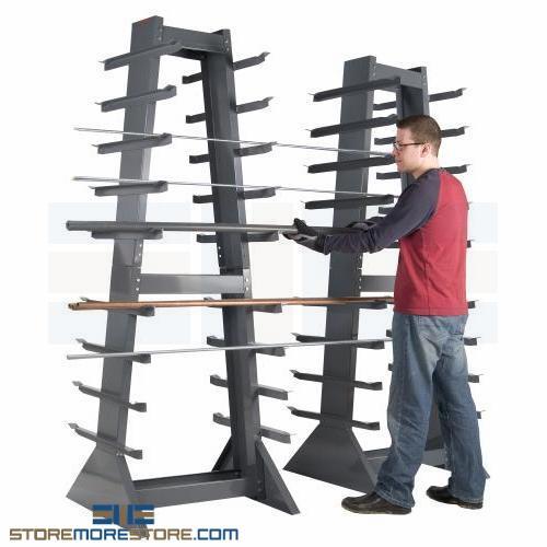 long material pipe bar storage rack