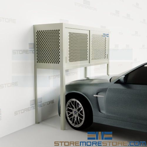 parking space storage lockers