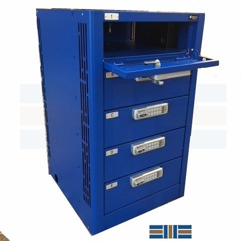 powered electronics locker storage