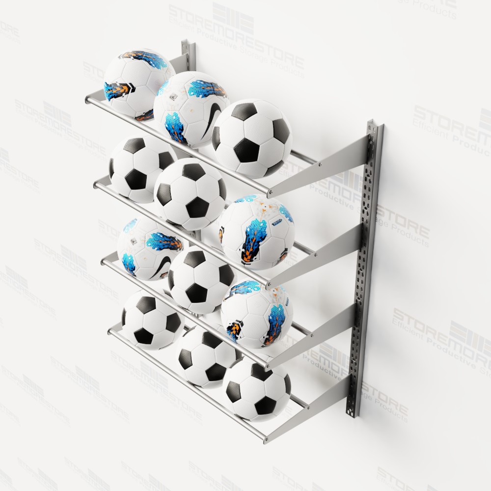 wall mounted athletic ball storage