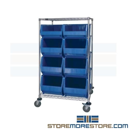 hospital wire bin cart transport