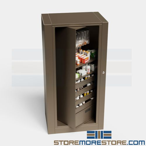 medication supply storage rotary cabinet