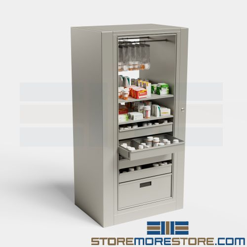 rotating pharmacy cabinets