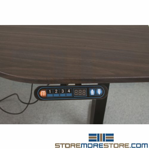 adjustable sit stand electric desk