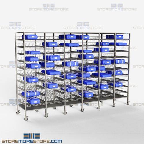 surgical kit storage racks