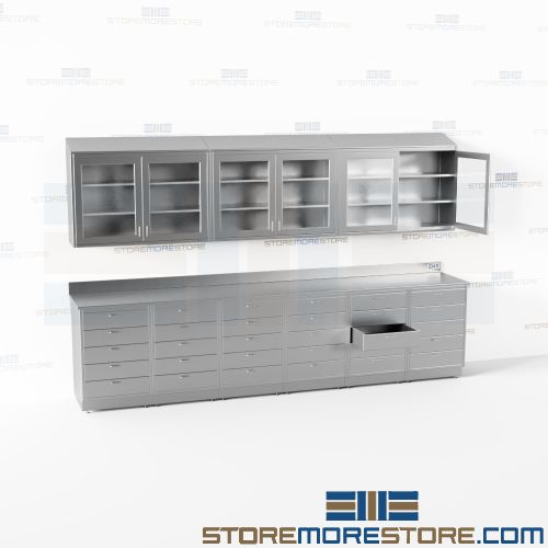 stainless steel base upper cabinets