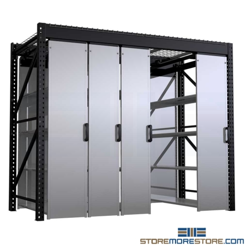 suspended mobile sliding shelves