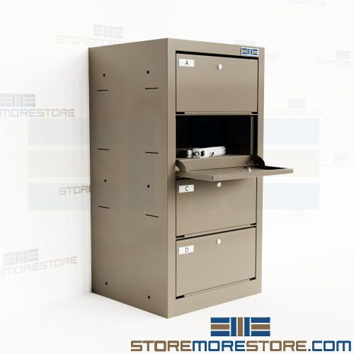 stacking locker weapon storage compartment