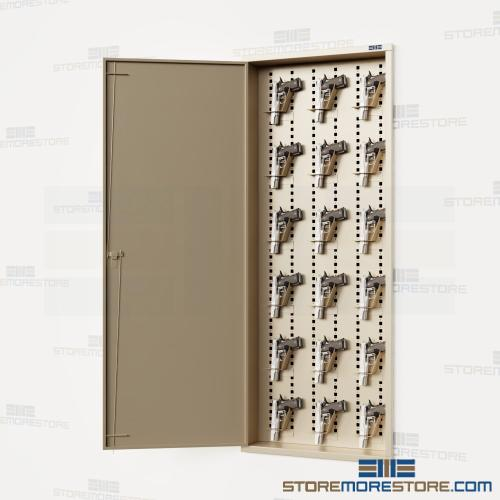 in-wall gun lockers