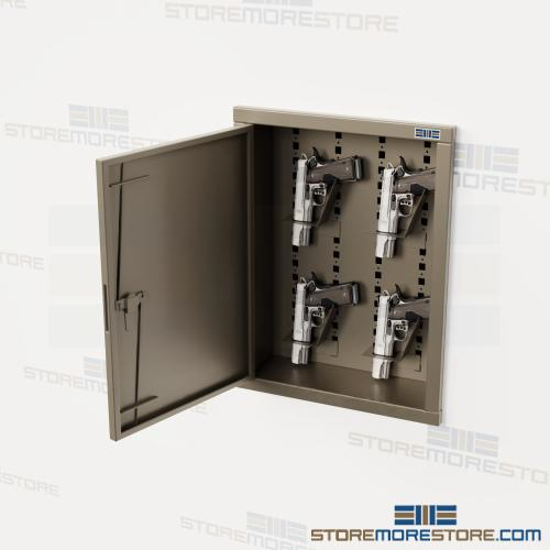 Recessed Weapon Lockers In Wall Gun Storage Cabinets