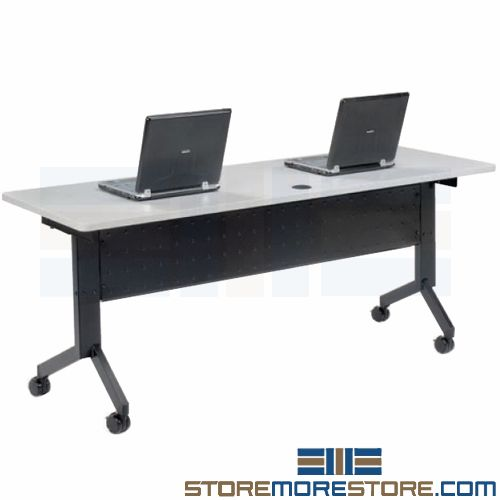 flip top mobile folding tables