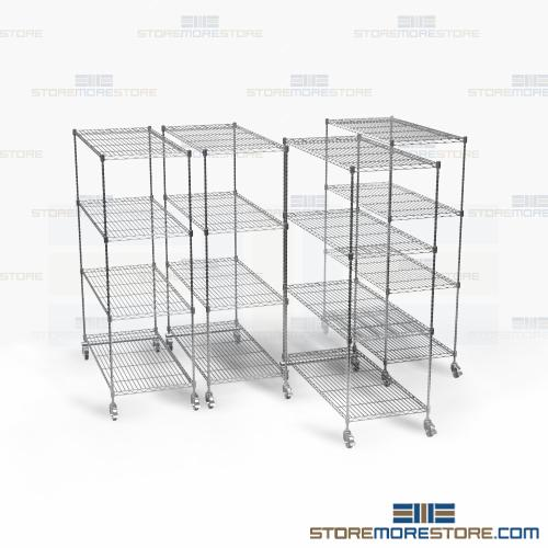 wire pull-out shelving racks