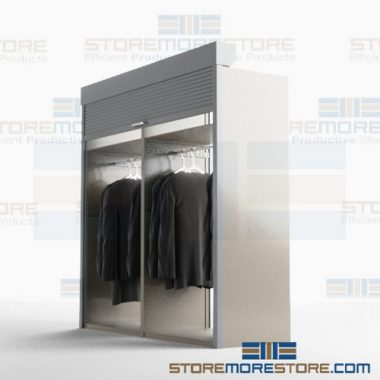 locking garment shelving doors